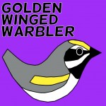 Golden Winged Warbler Social Media Badge Twitter Facebook