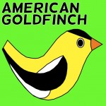 American Goldfinch Social Media Badge Twitter Facebook
